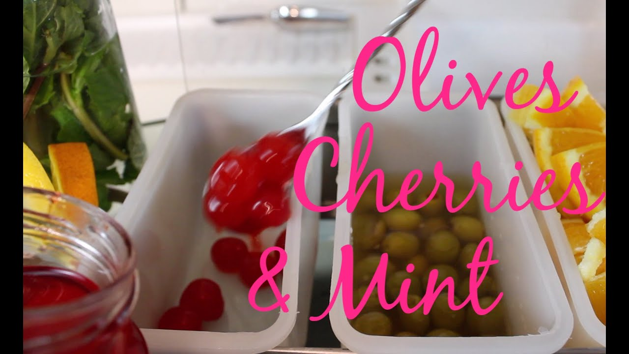 Garnishes: How to Work with Olives, Cherries and Mint