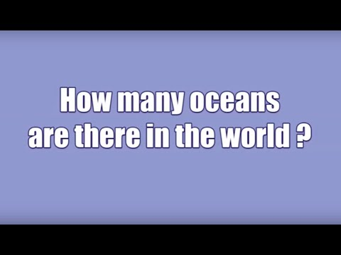 How Many Oceans Are There In The World