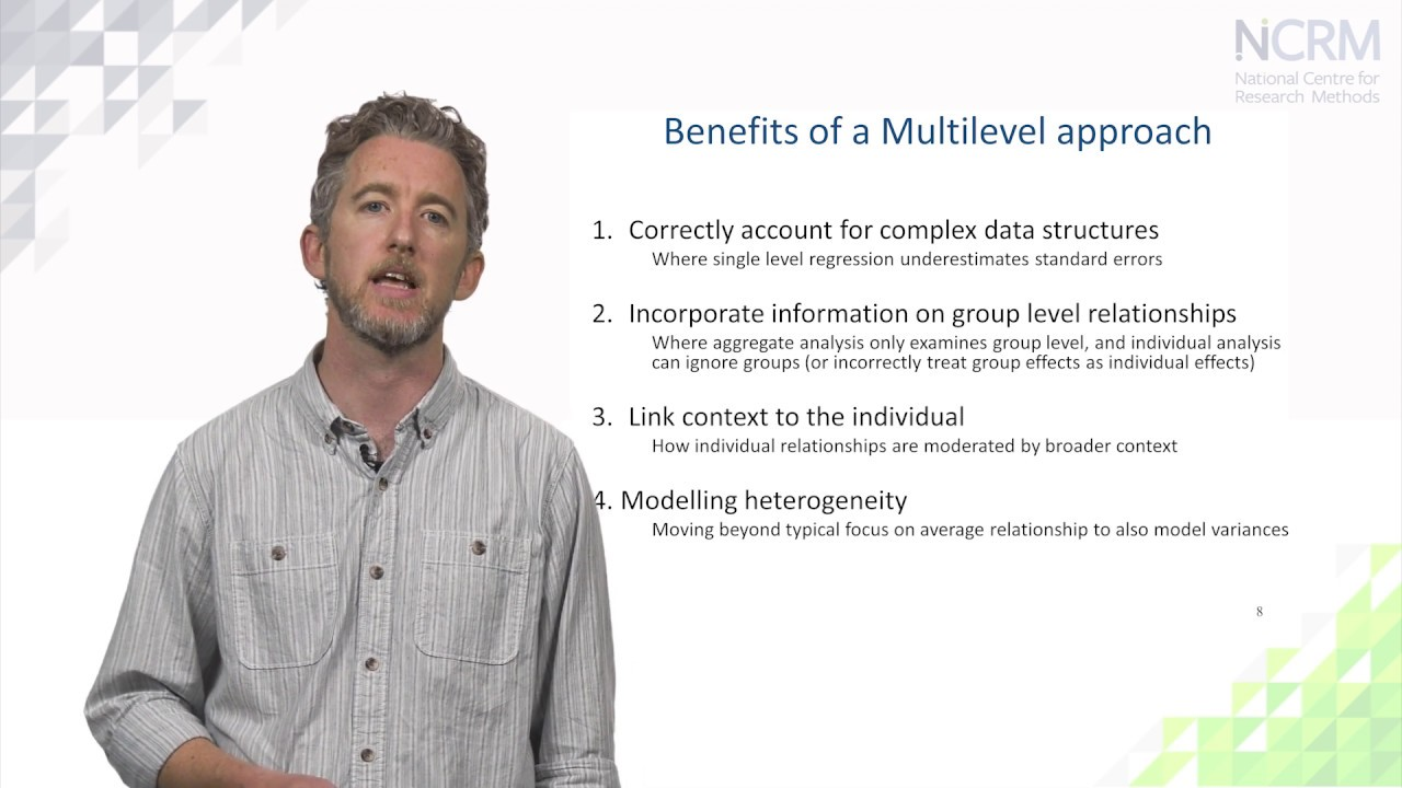 NCRM Online learning resources | Multilevel models:Random