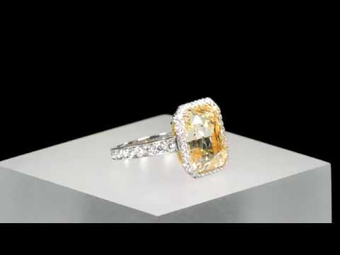 Fancy Yellow Diamond Ring 10.21 Carats from M.S. Rau Antiques