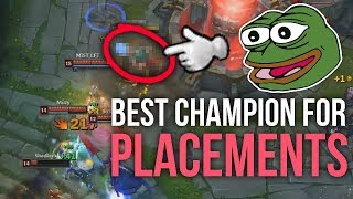 Imaqtpie - THE BEST CHAMPION TO WIN PLACEMENT MATCHES!