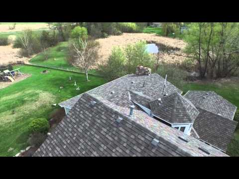 How to choose roof color: GAF Designers shingles, Camelot ll, color Weathered Wood