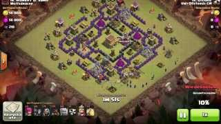 Clash of Clans Clanwar Rathaus 8 Angriff # 4 Wolfsdrache Monkey D. Samo vs. D-Lord UglyB@stards CW