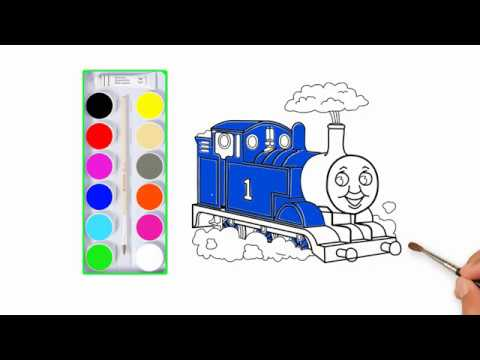 Menggambar Dan Mewarnai Kereta Api Thomas Buat Kreasi Anak Anak