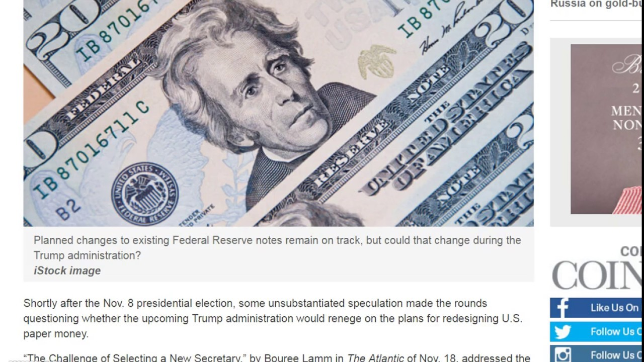 New US Notes in 2020, Will Steven Mnuchin Change the Design?