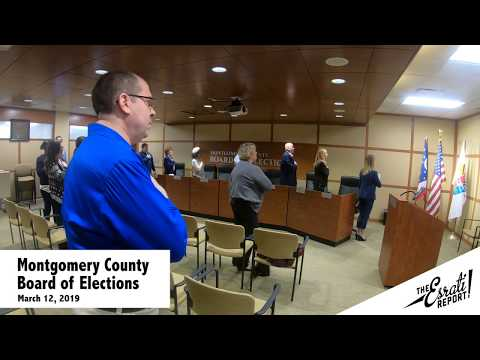 Montgomery County Board of Elections March 12, 2019