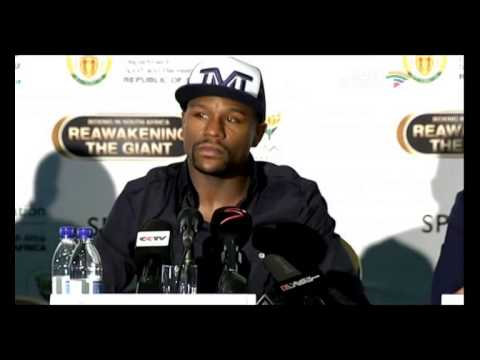 Floyd Mayweather's press briefing at the Olympic House.