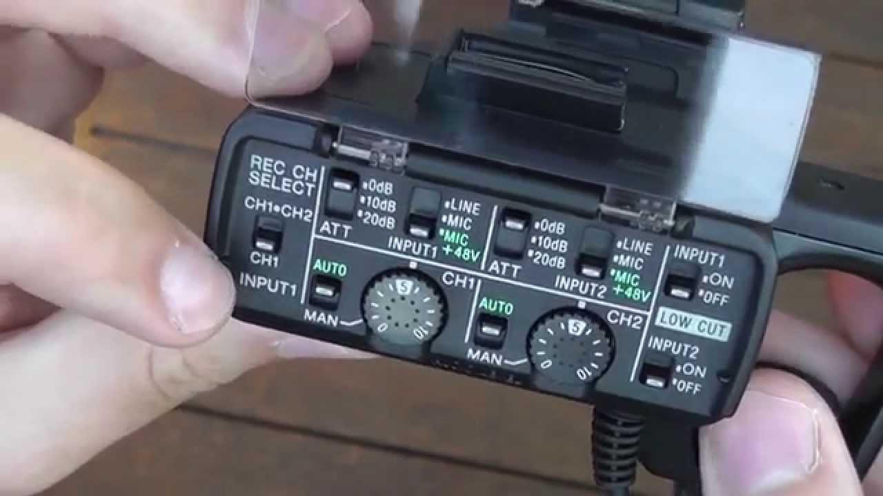 Sony Xlr K1m Xlr Mikrofonanschluss Für Camcorder Kurz Vorgestellt