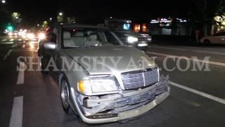 Խոշոր ավտովթար Երևանում  Բախվել են Mercedes ն ու Volkswagen ը
