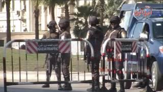 تأمينات ميدان النهضة يوم عيد ثورة 25 يناير