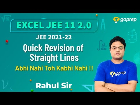 Quick Revision of Straight Lines | Coordinate Geometry Tips & Tricks | JEE Main 2021-2022 |Rahul SIr
