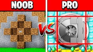 MINECRAFT NOOB vs PRO BANK VAULT HEIST!