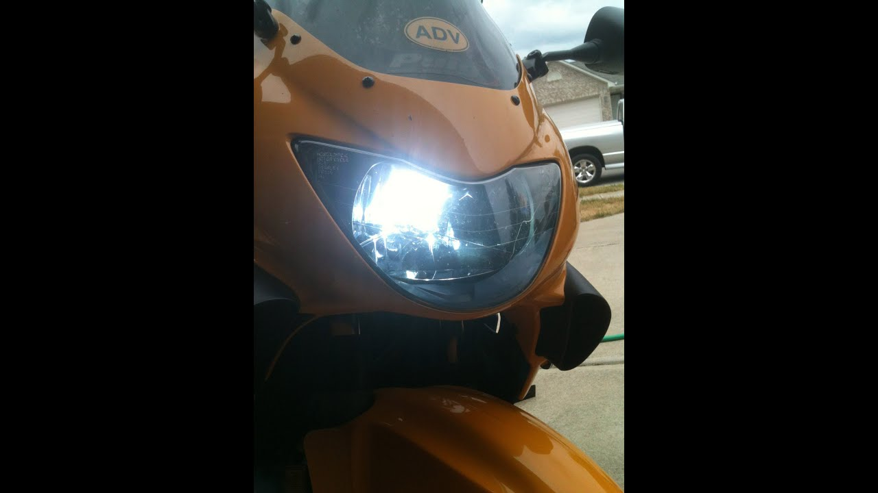 how to install an hid headlight in a cbr 600 f4