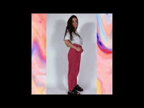BASIC calça cintura alta - cotelê rosa
