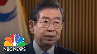Mayor Of Seoul, South Korea, Shows NBC News' Kelly Cobiella 'Elbow Greeting' | NBC News