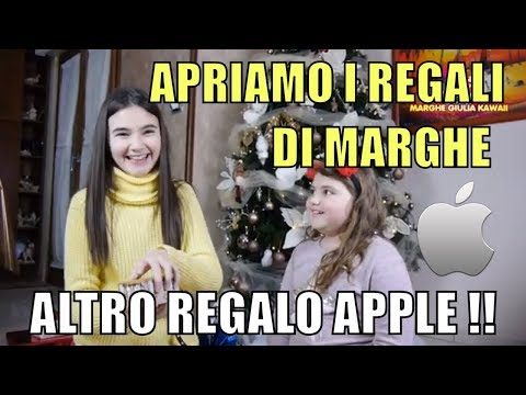 APRIAMO I REGALI DI NATALE PER MARGHE  Ancora un regalo Apple cosa sarà ?