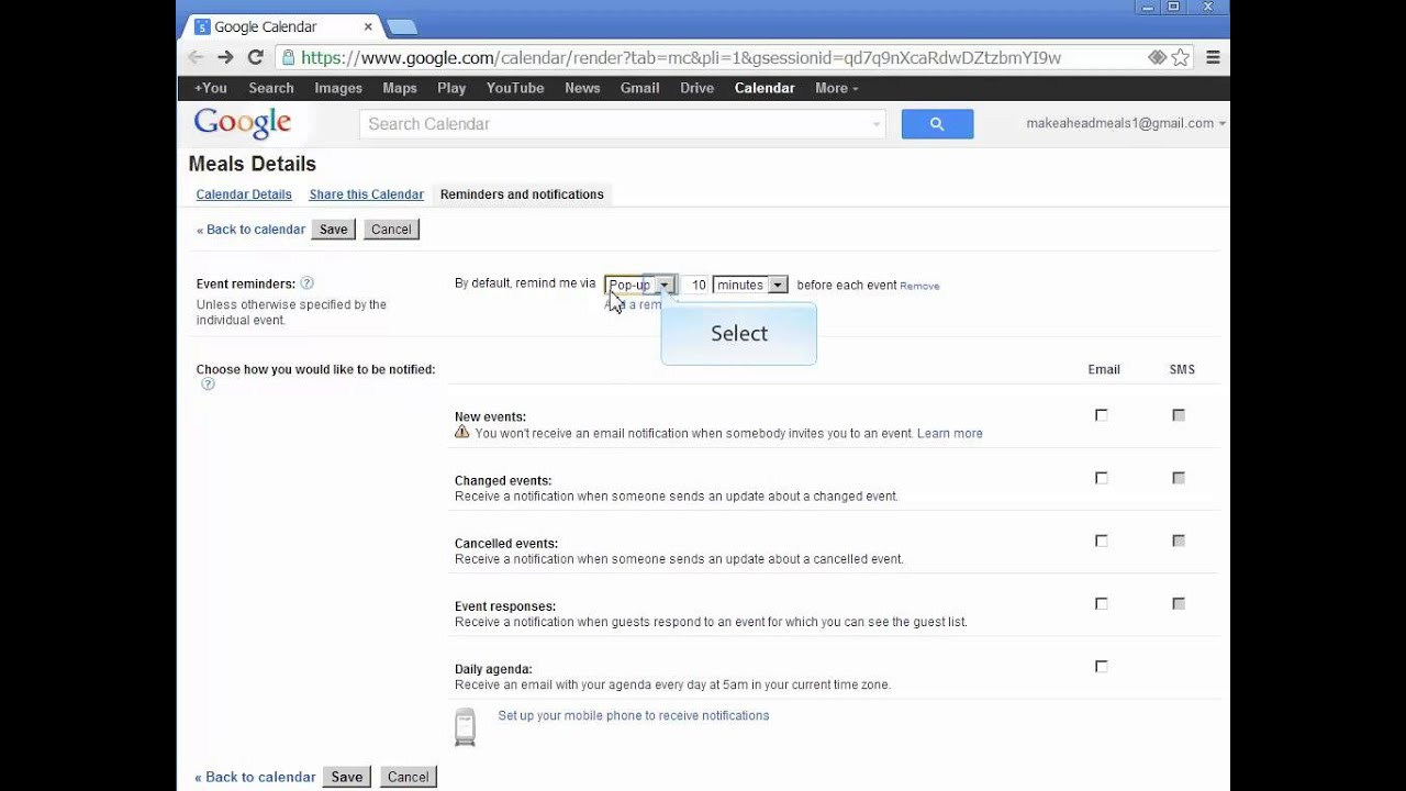 How to Create a Meal Plan with Google Calendar - YouTube