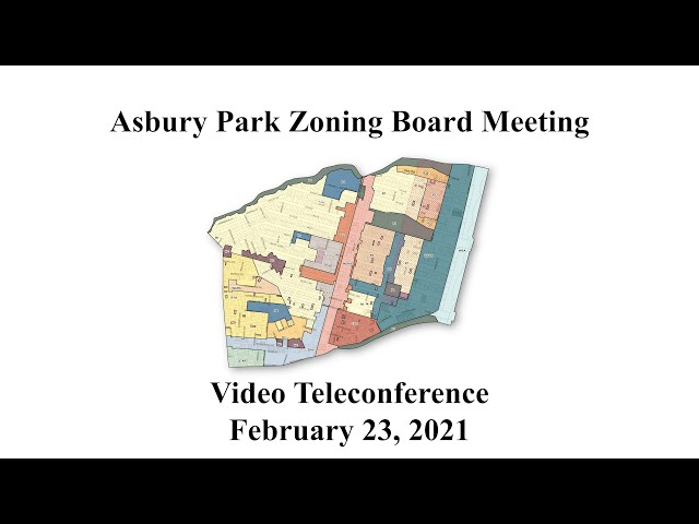 Asbury Park Zoning Board Meeting  - February 23, 2021