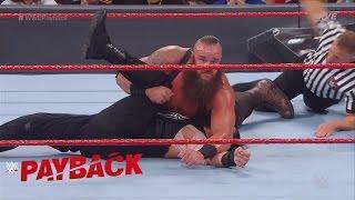 WWE PAYBACK 2017 BRAUN STROWMAN VS ROMAN REIGNS MATCH RESULT!!!