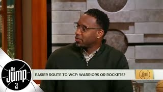 Rockets facing tougher path than Warriors to Western Conference finals | The Jump | ESPN