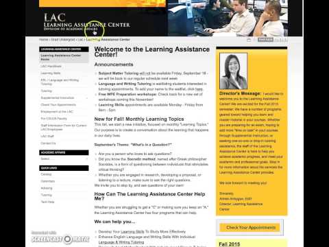 CSULB_How to navigate within your online tutoring course