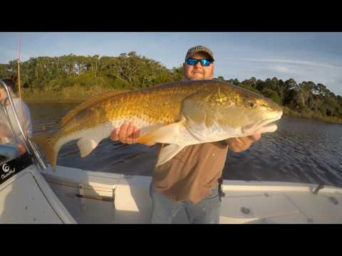 Catching Redfish On Mobile Bay With Captain Patric Garmeson Owner Of Ugly Fishing LLC Guide Serv....