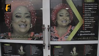 RONKE OSHODI OKE DID IT AGAIN AS SHE OPEN A NEW BEAUTY STORE AT OGBA LAGOS