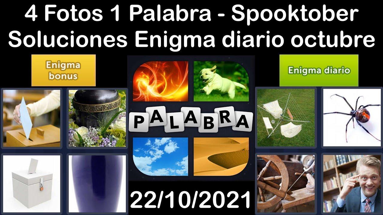 4 Fotos 1 Palabra - Spooktober - 22/10/2021 - Solucion Enigma diario - octubre de 2021