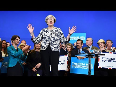Theresa May speaks in Birmingham on final day of election campaigning