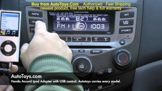 Honda Accord USB IPOD Iphone, Grom Interface with Aux Mp3, Demo & Radio Removal by AUTOTOYS