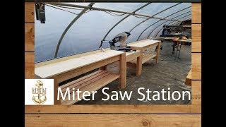 Miter Saw Station: Kreg Top TraK was used to Build an Inexpensive Miter Saw Station in One Day.