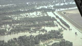 Coast Guard overflight of lower Mississippi River floods