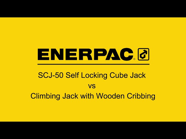 SCJ-50 Self-Locking Cube Jack VS Climbing Jack Jack-and-Pack with Wood Cribbing   Enerpac