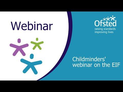 Childminders' Webinar On The Education Inspection Framework
