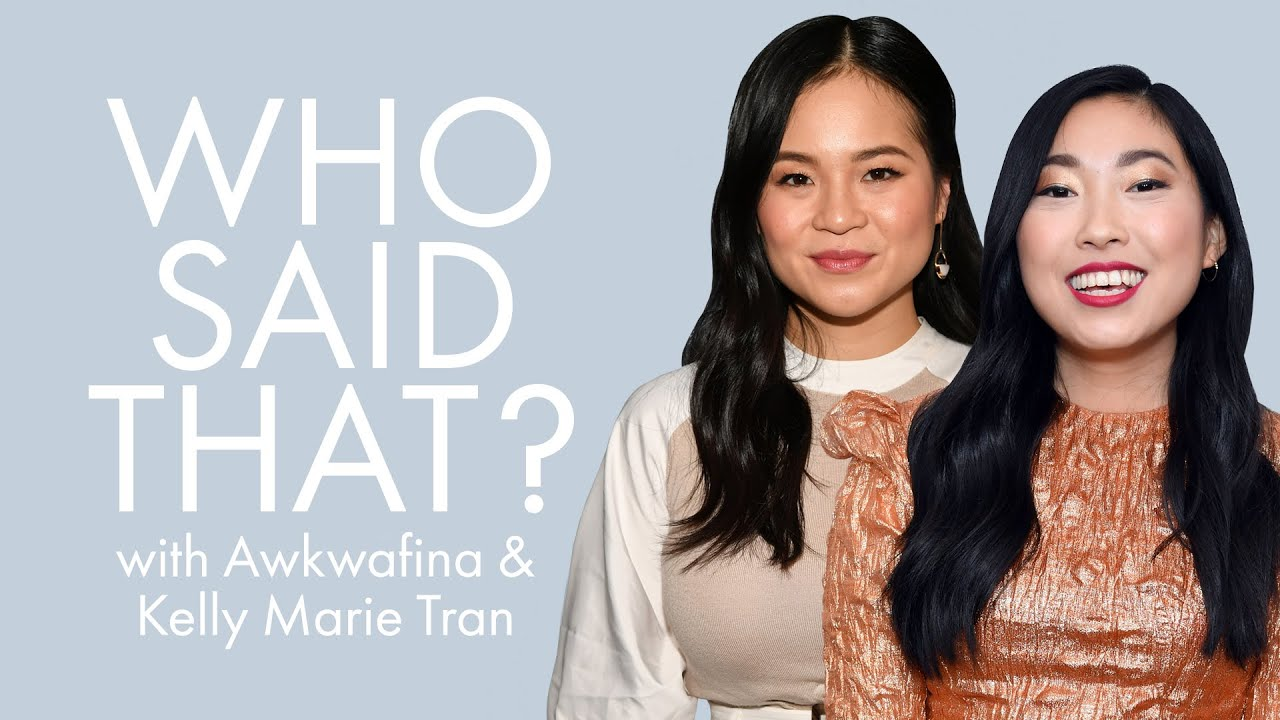 Awkwafina & Kelly Marie Tran Guess Lines From Jack Black, Emma Stone & More | Who Said That