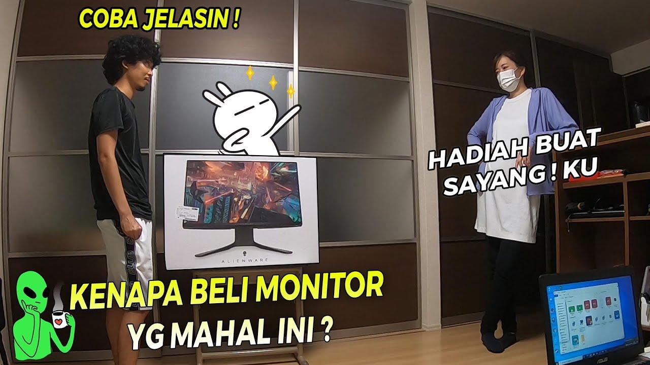 """DI PRANK ISTRI  TIBA-TIBA DI BELIKAN MONITOR MAHAL * ALIENWARE KELUARAN TERBARU  2020 """" !"""