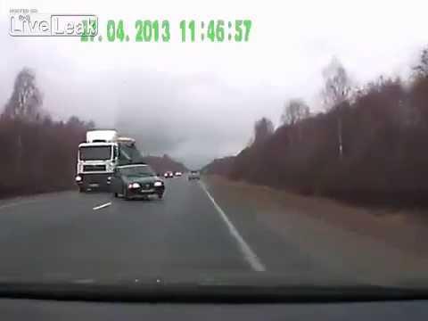 Headon collision - Car Crash April 2013