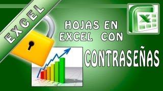 Tutorial de Excel - Como poner CONTRASEÑA a una hoja de un libro