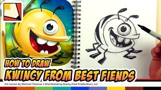 How to Draw Kwincy - Draw Best Fiends Game Characters | BP