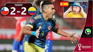 ESPAÑOL REACCIONA AL CHILE VS COLOMBIA 2-2 | GOL DE RADAMEL FALCAO | EL VAR | GRAN ALEXIS SANCHEZ