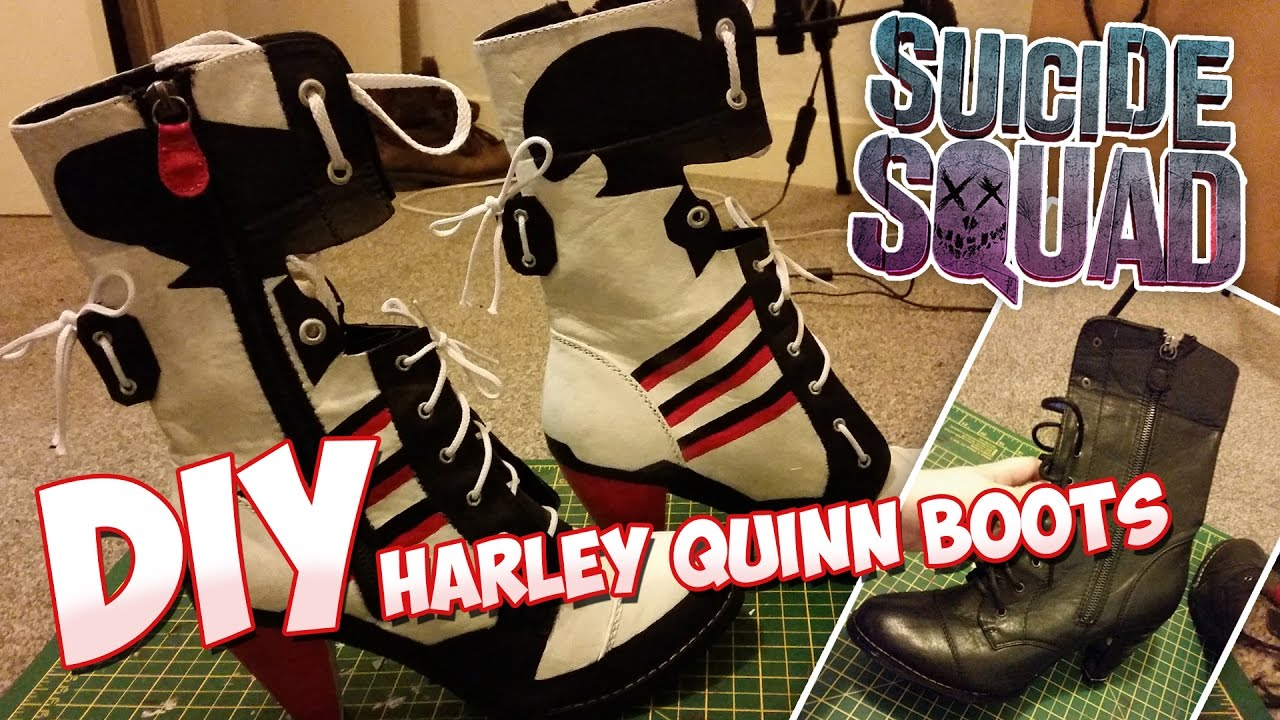761183fcbf8c DIY Suicide Squad Harley Quinn Cosplay Boots - Time-Lapse - YouTube