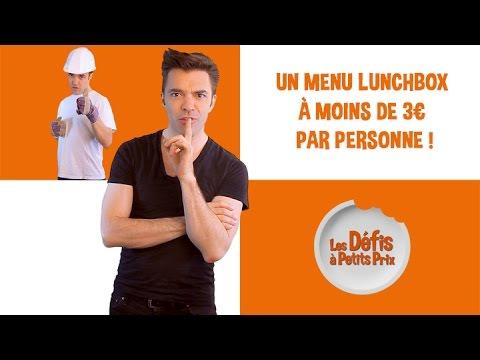 Menu lunchbox à 3 € - Défis à Petits Prix