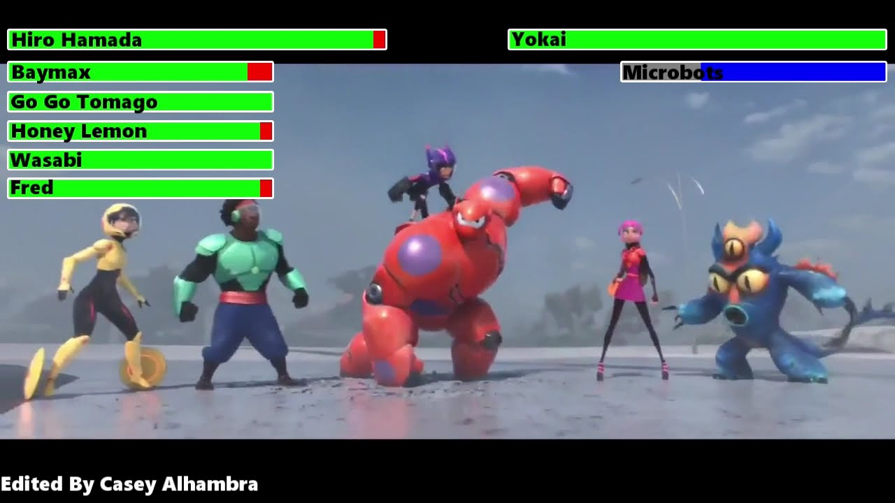 Download Big Hero 6 (2014) Final Battle with healthbars 2/2 (Edited By @Casey Alhambra)