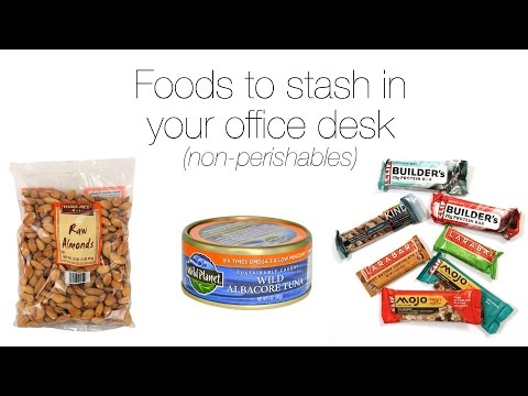 Foods to stash in your office desk