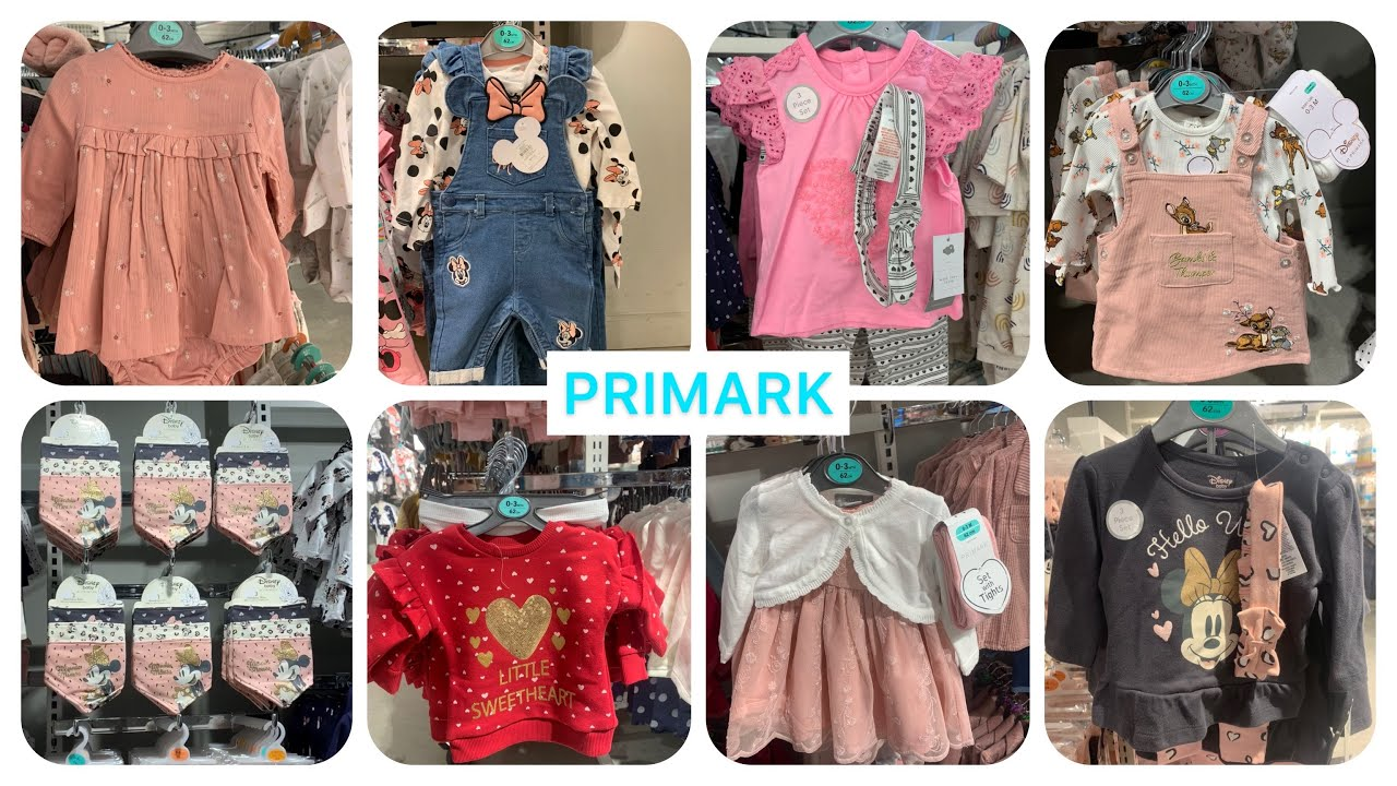 Primark newborn baby girls clothes new collection January 2021