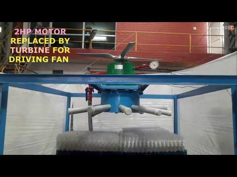 Cooling Tower : Turbine Driven Fan Based System : Renewable Energy