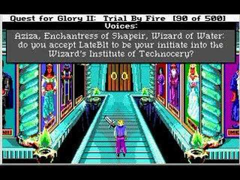 Let's Play Quest For Glory 2: Trial By Fire 20 - WIT, Part 1