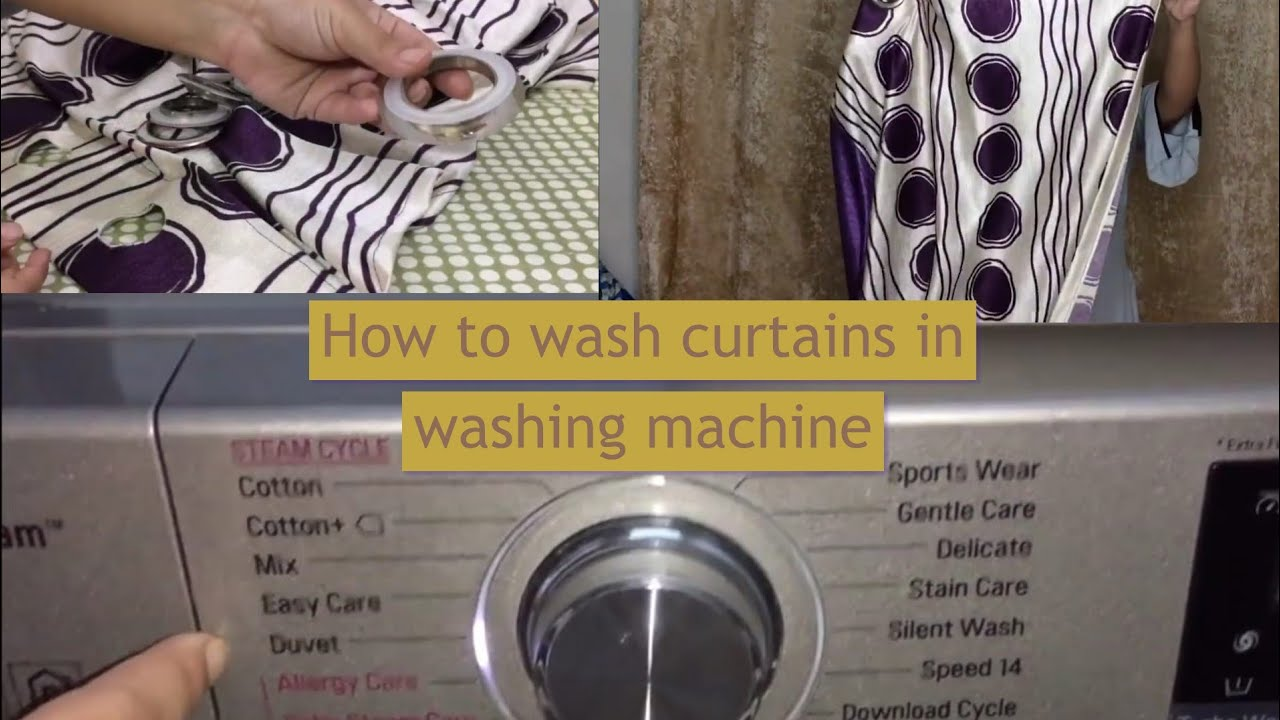 how to wash curtain in fully automatic washing machine व श ग मश न म पर द क स व श कर