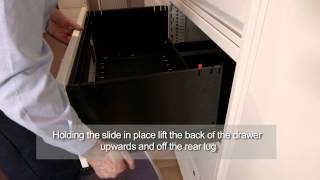 Bisley LateralFile Drawer removal instructions