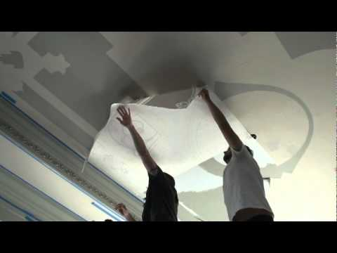 FAUX PAINTING.  HOW TO GOLD AND SILVER LEAF GILDING MODELLO CEILING.